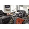 Signature Design by Ashley Kensbridge Leather Match Contemporary Sofa