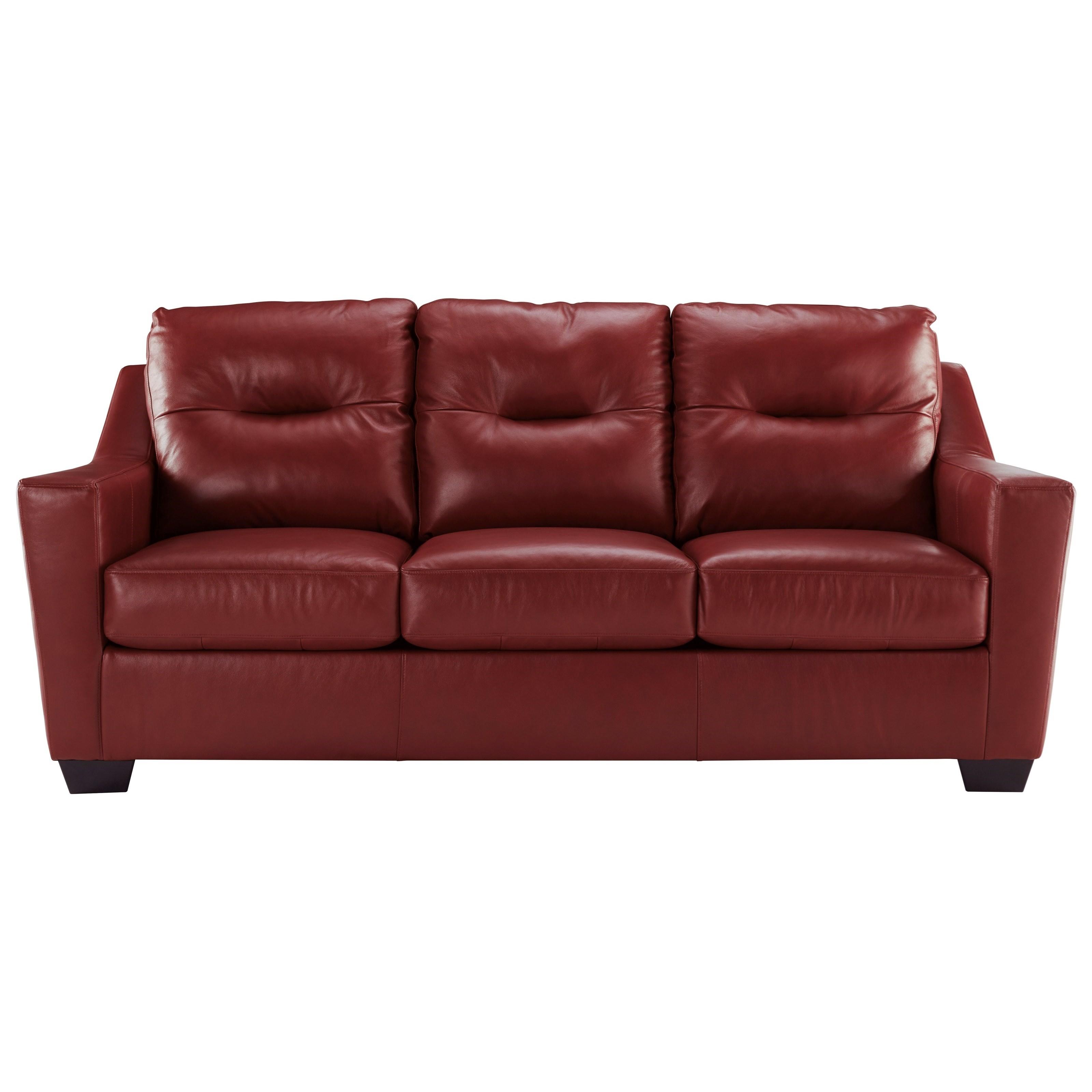 Signature Design By Ashley Kensbridge Leather Match Contemporary Sofa Royal Furniture Sofas