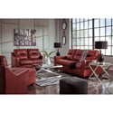 Signature Design by Ashley Kensbridge Leather Match Contemporary Queen Sofa Sleeper