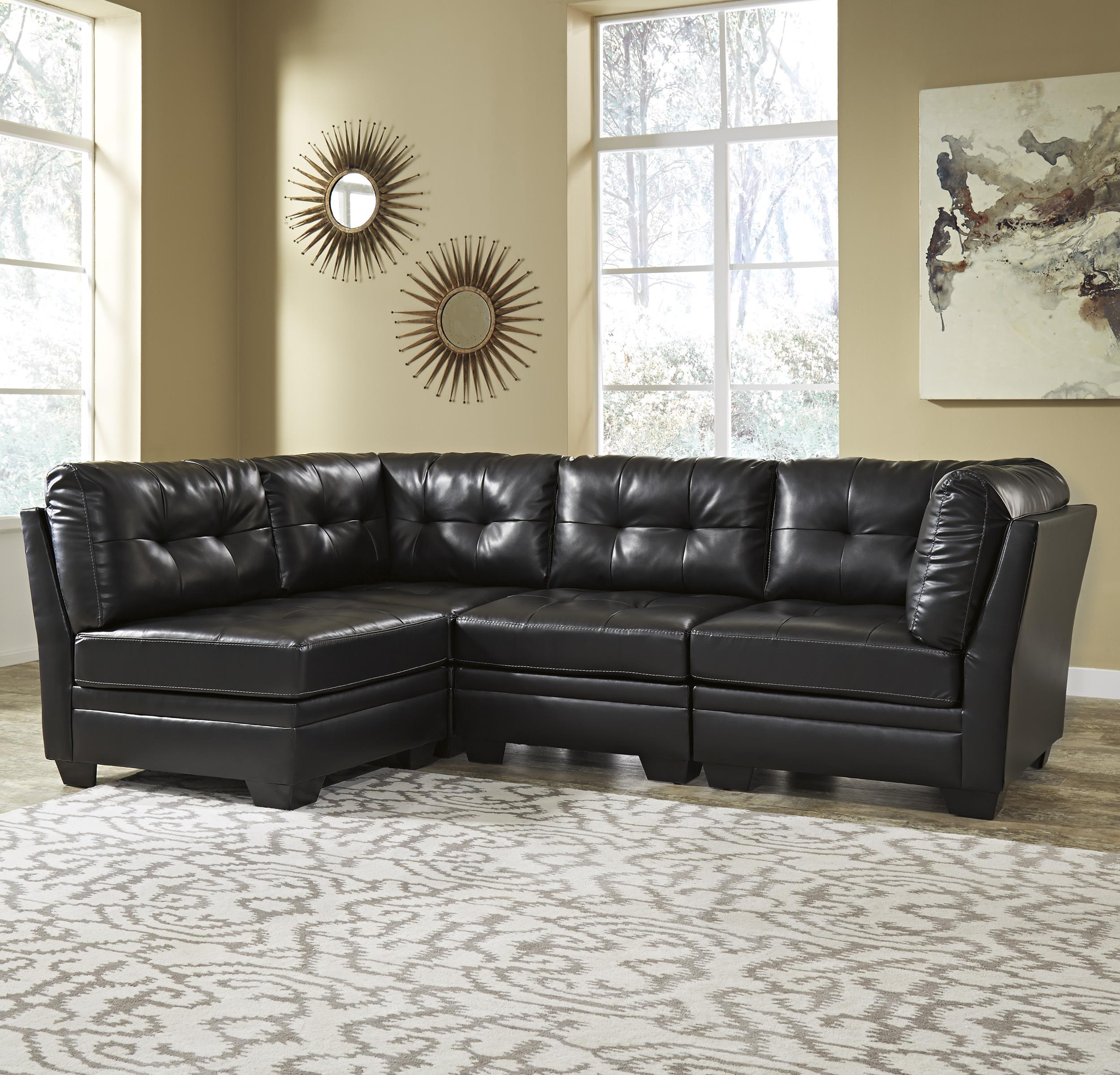 Signature Design by Ashley Khalil DuraBlend® 4-Piece Modular Sectional - Item Number: 6180546x2+2x51