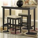 Signature Design by Ashley Kimonte 3-Piece Counter Table Set with Stools - Item Number: D250-13+2x124