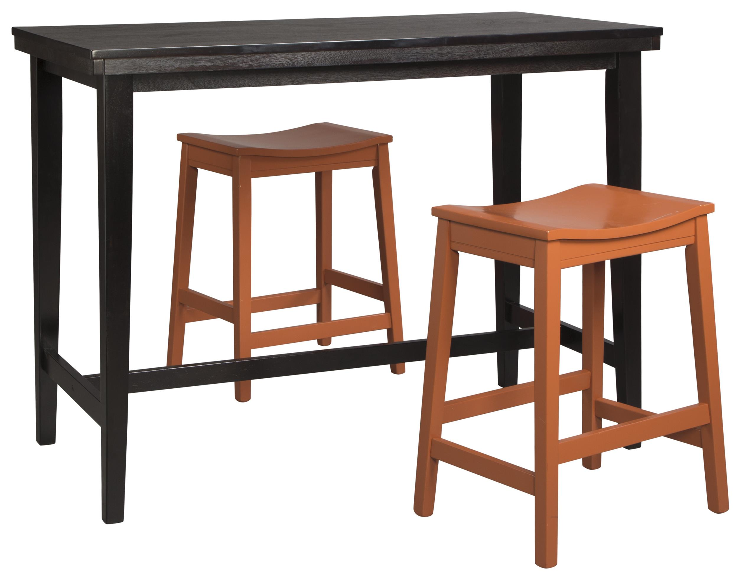 Signature Design by Ashley Kimonte 3-Piece Counter Table Set - Item Number: D250-13+2xD389-0424