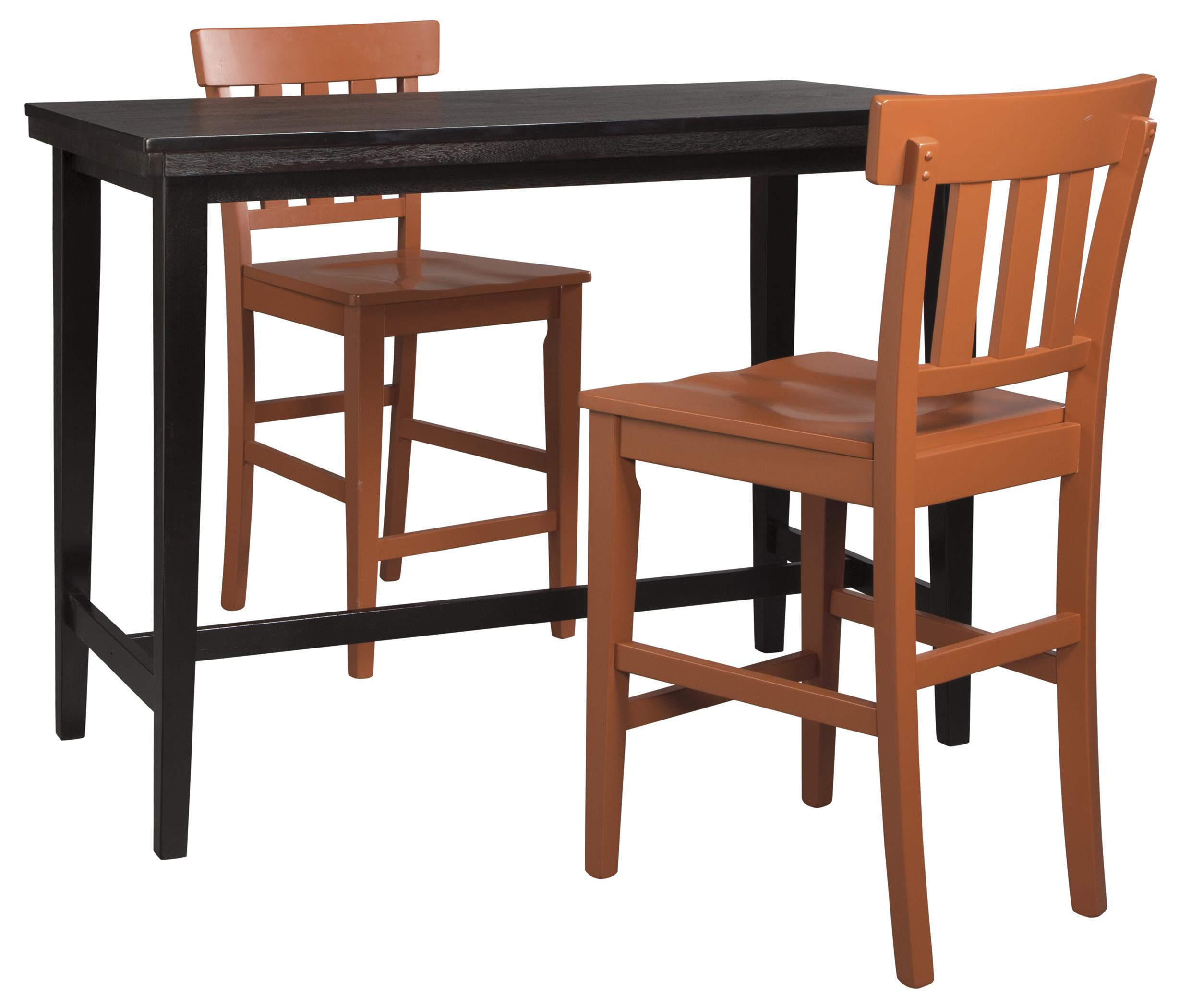 Signature Design by Ashley Kimonte 3-Piece Counter Table Set - Item Number: D250-13+2xD389-1424