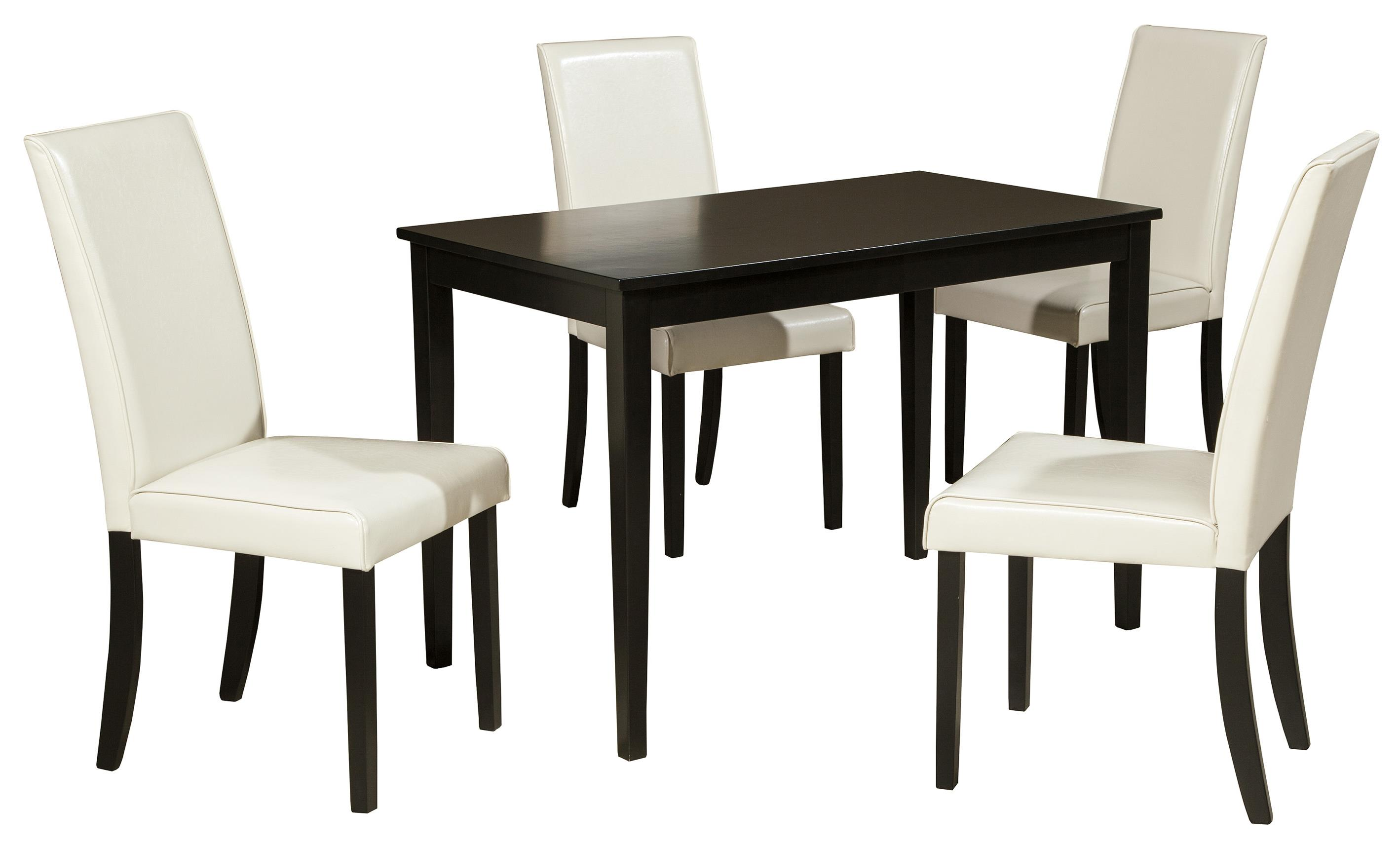 Signature Design by Ashley Kimonte 5-Piece Rectangular Table Set - Item Number: D250-25+4x02