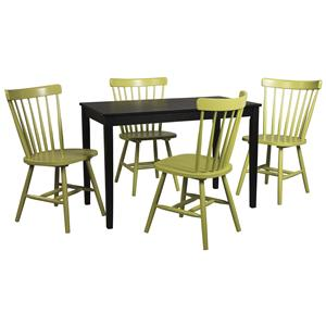 Signature Design by Ashley Kimonte 5-Piece Rectangular Table Set