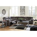 Signature Design by Ashley Kincord Casual Contemporary Power Reclining Sectional