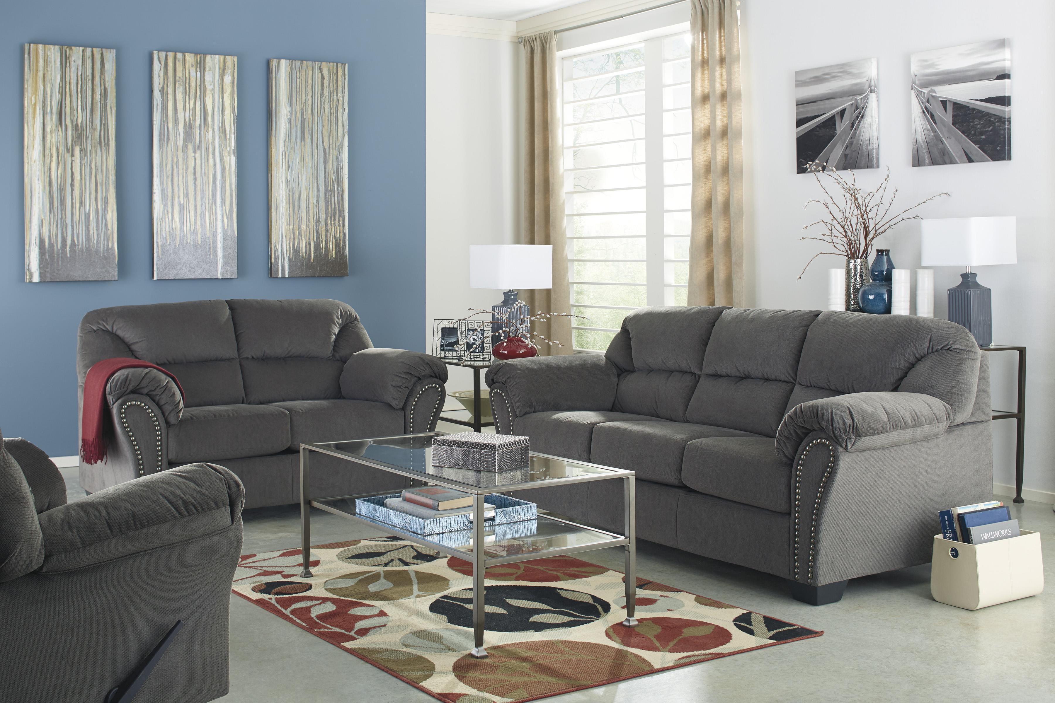 Signature Design by Ashley Kinlock Stationary Living Room Group - Item Number: 33400 Living Room Group 4