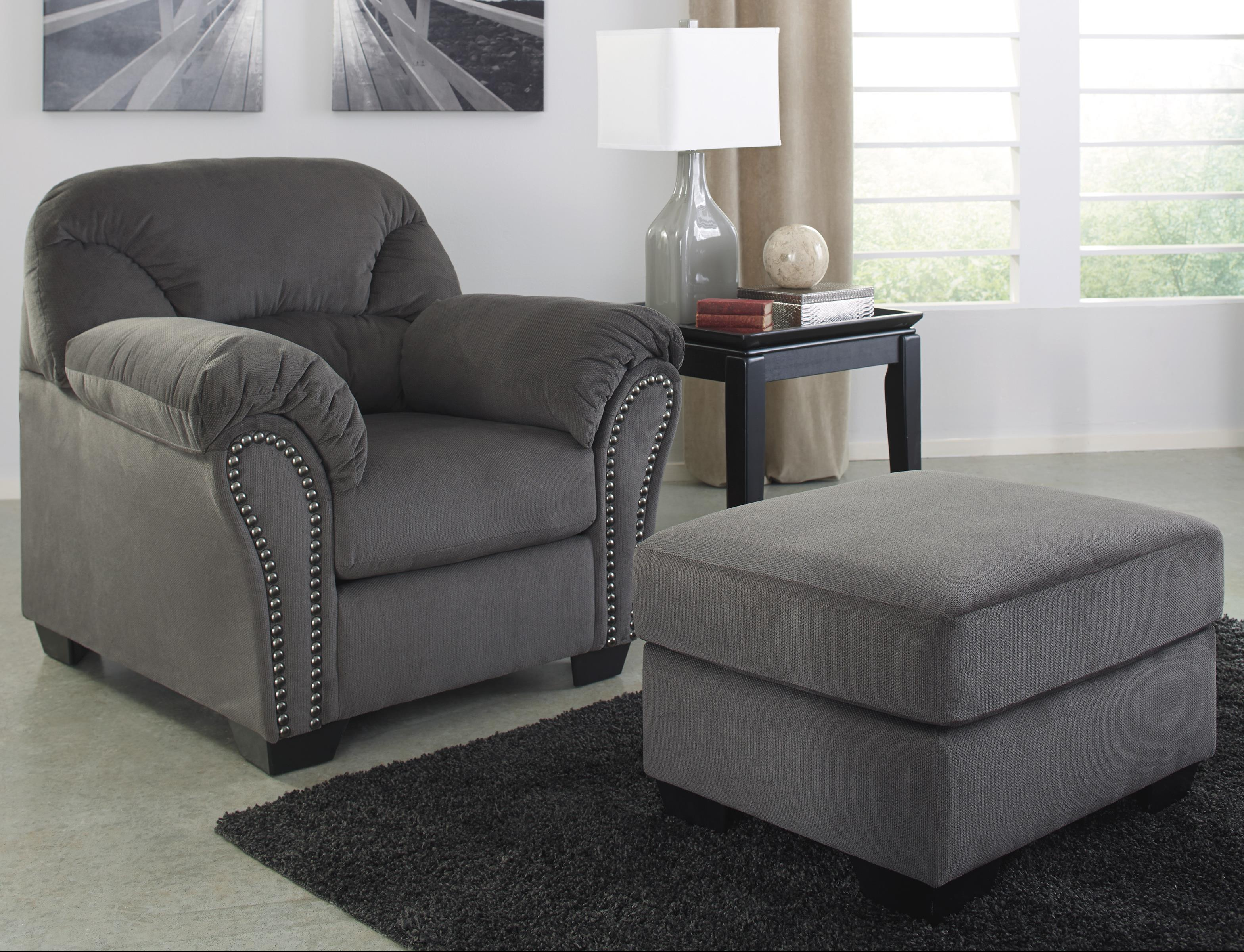 Signature Design by Ashley Kinlock Chair & Ottoman - Item Number: 3340020+14