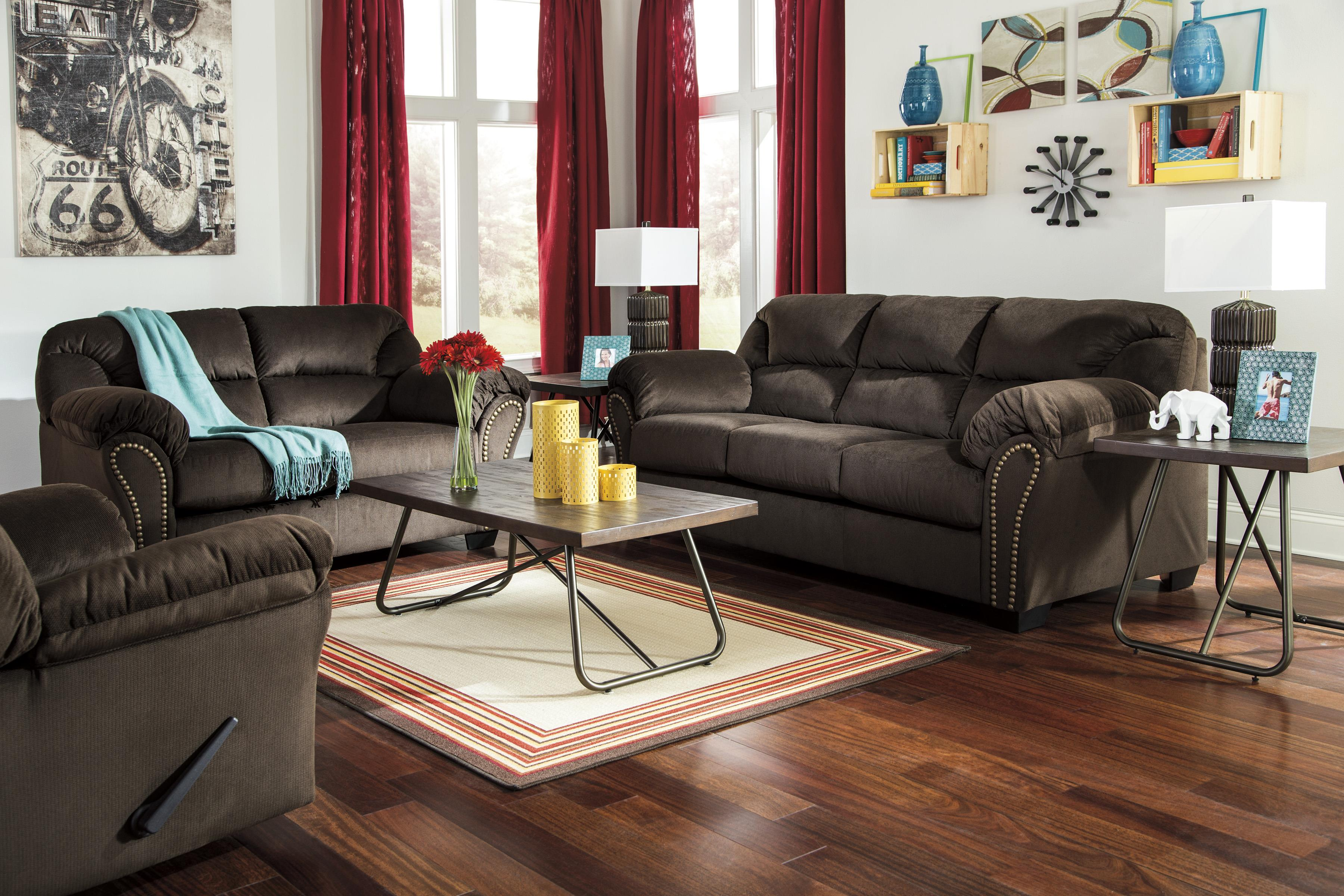 Signature Design by Ashley Kinlock Stationary Living Room Group - Item Number: 33401 Living Room Group 3