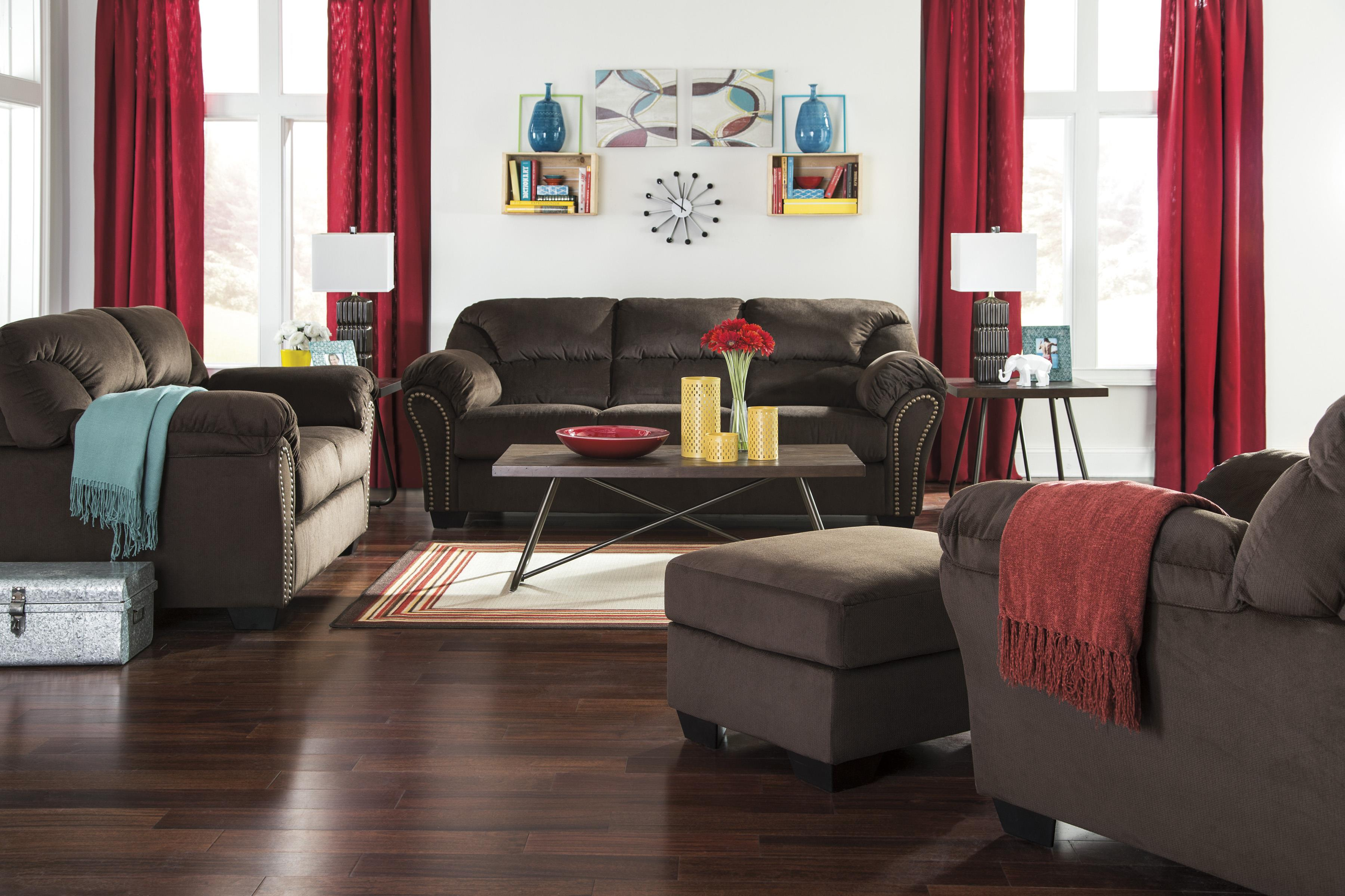 Signature Design by Ashley Kinlock Stationary Living Room Group - Item Number: 33401 Living Room Group 5