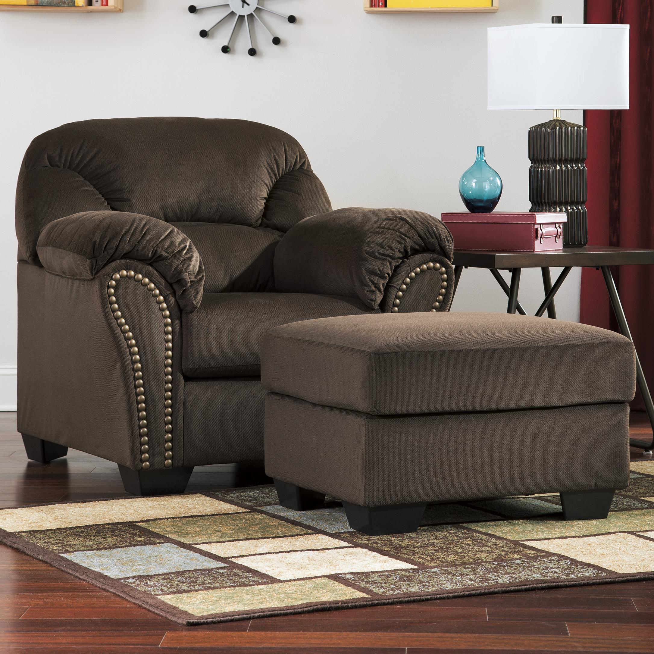 Signature Design by Ashley Kinlock Chair & Ottoman - Item Number: 3340120+14