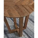 Signature Design by Ashley Kinnshee Solid Wood Round End Table