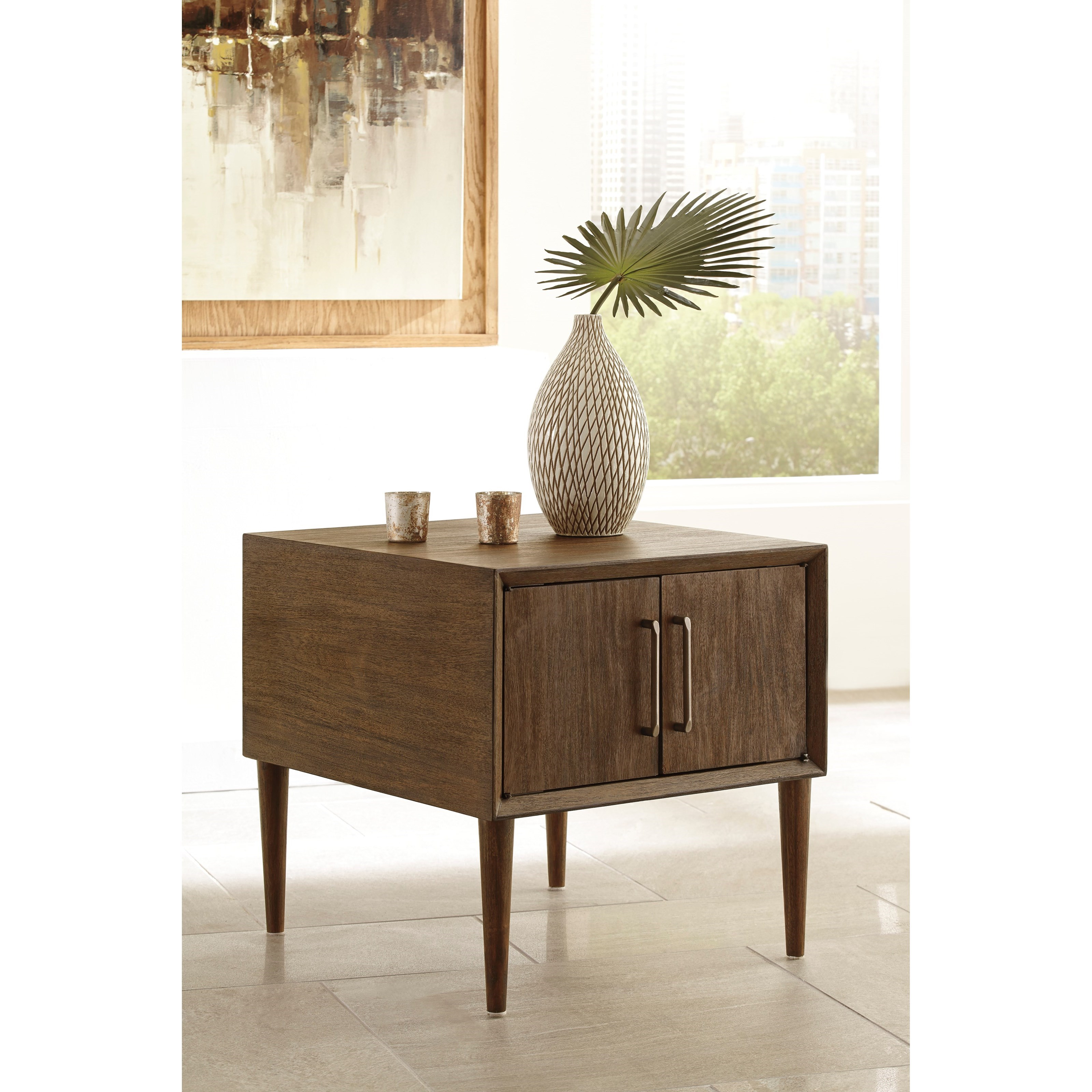 Pick Up End Table Lamps For Living Room Kmart: Signature Design By Ashley Kisper T802-2 Mid-Century