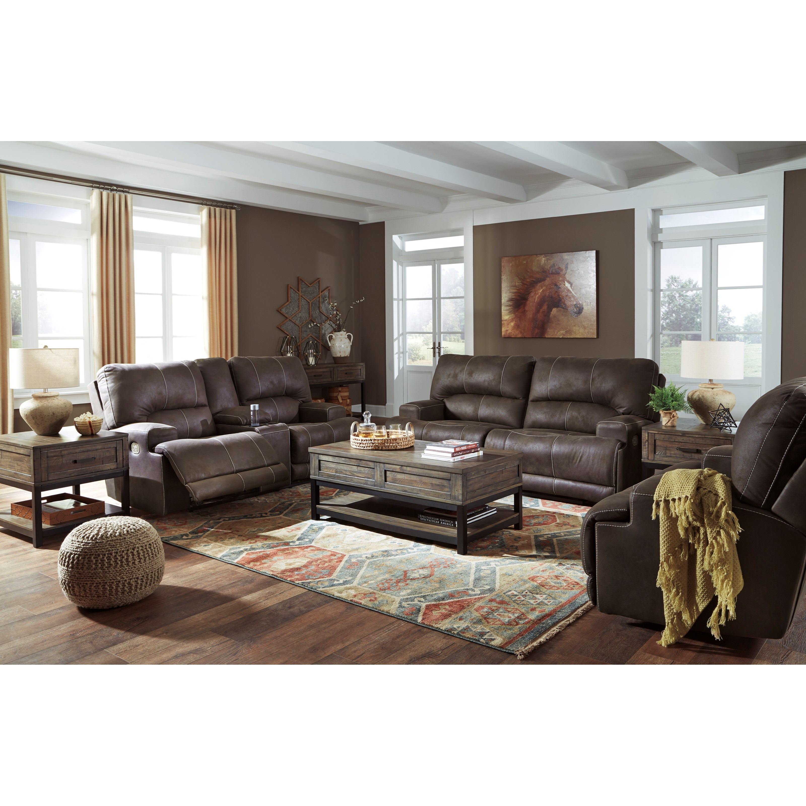 Kitching Power Reclining Living Room Group at Van Hill Furniture