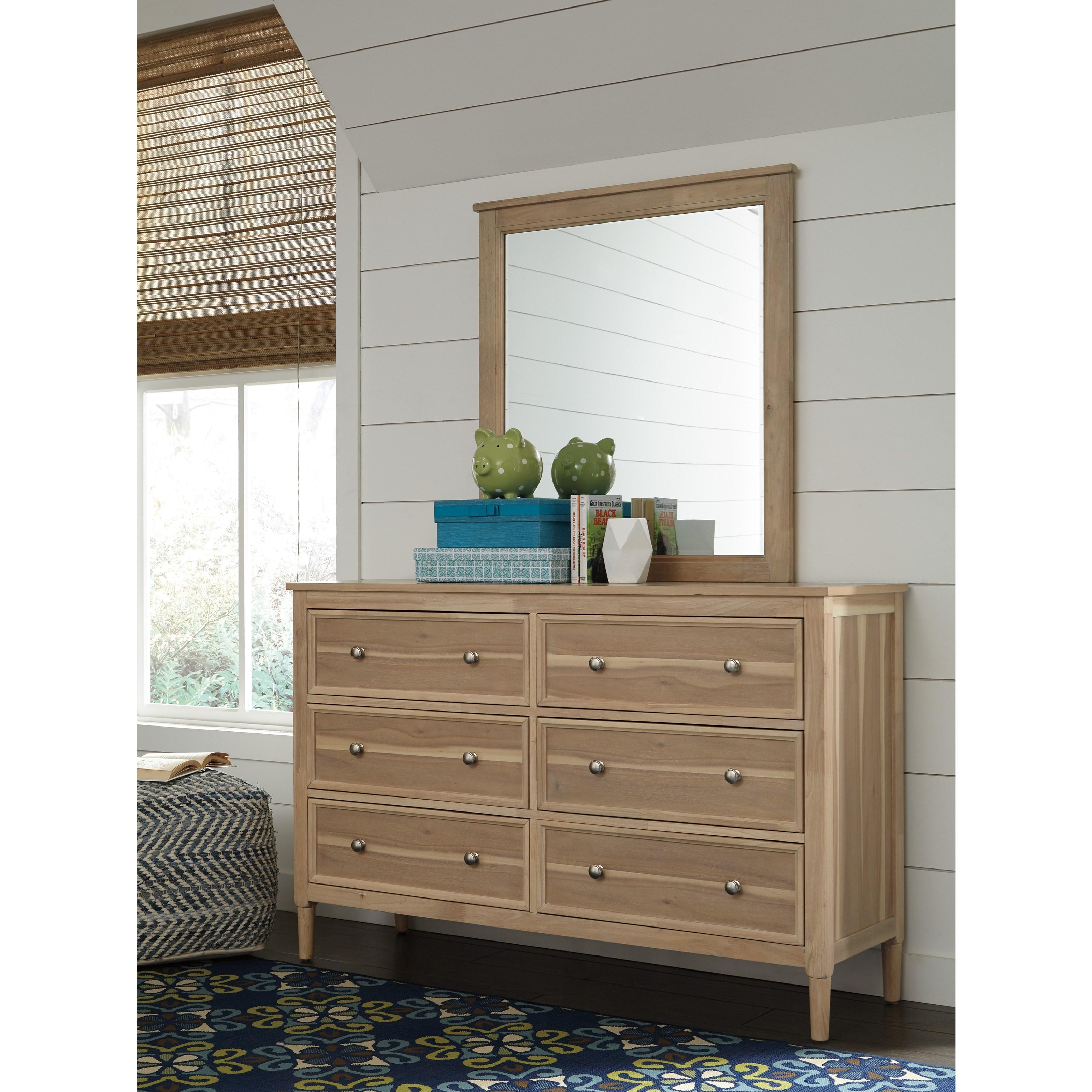 Ashley Signature Design Klasholm Contemporary Dresser And Mirror Set Dunk Bright Furniture