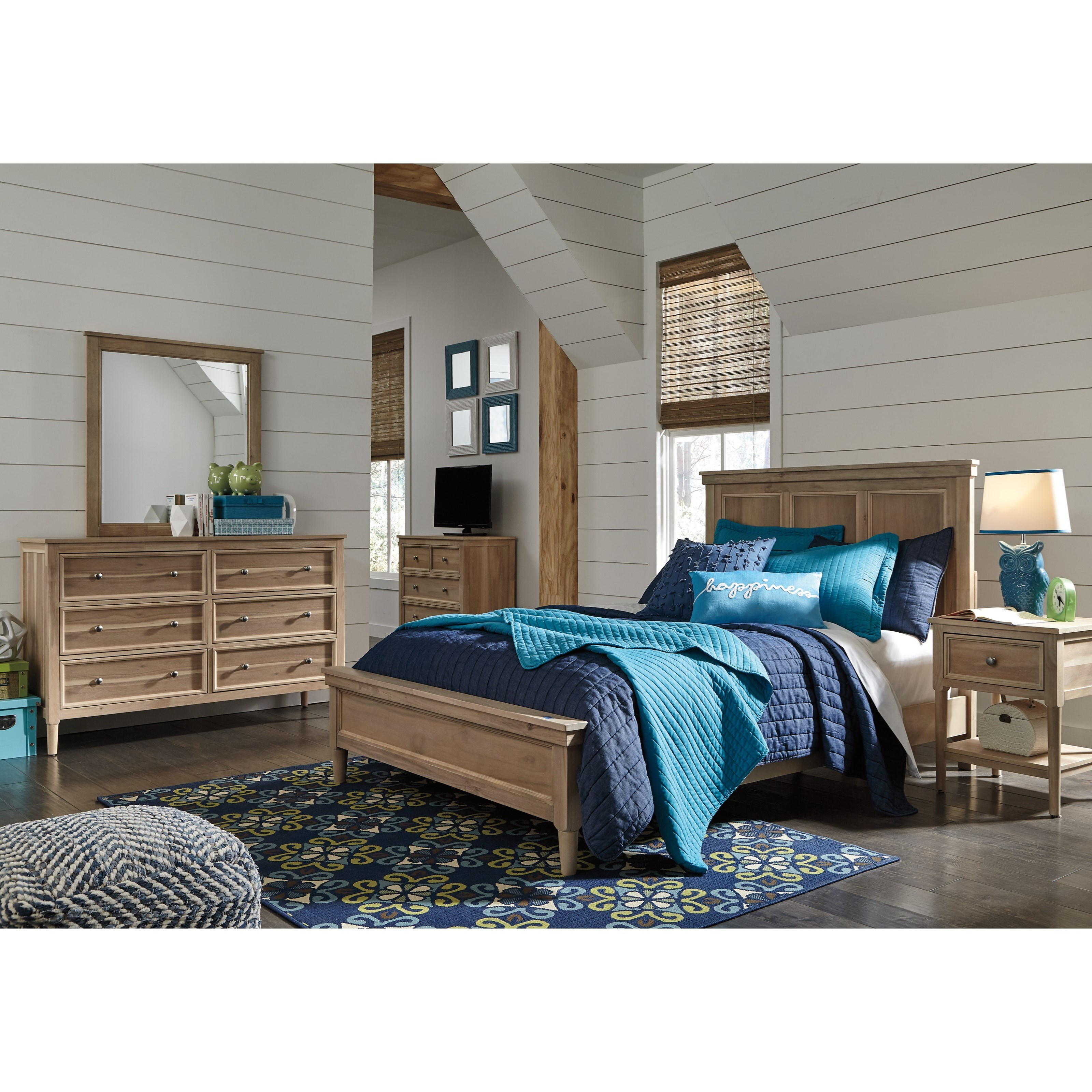 Ashley Signature Design Klasholm Contemporary Full Bed With Low Profile Footboard Dunk