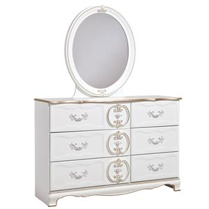Signature Design by Ashley Korabella Dresser & Bedroom Mirror