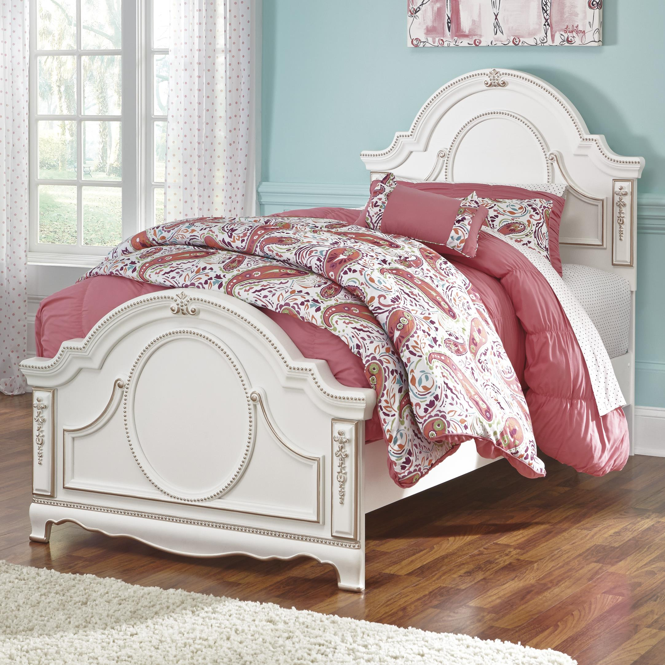 Signature Design by Ashley Korabella Twin Panel Bed - Item Number: B355-53+52+83