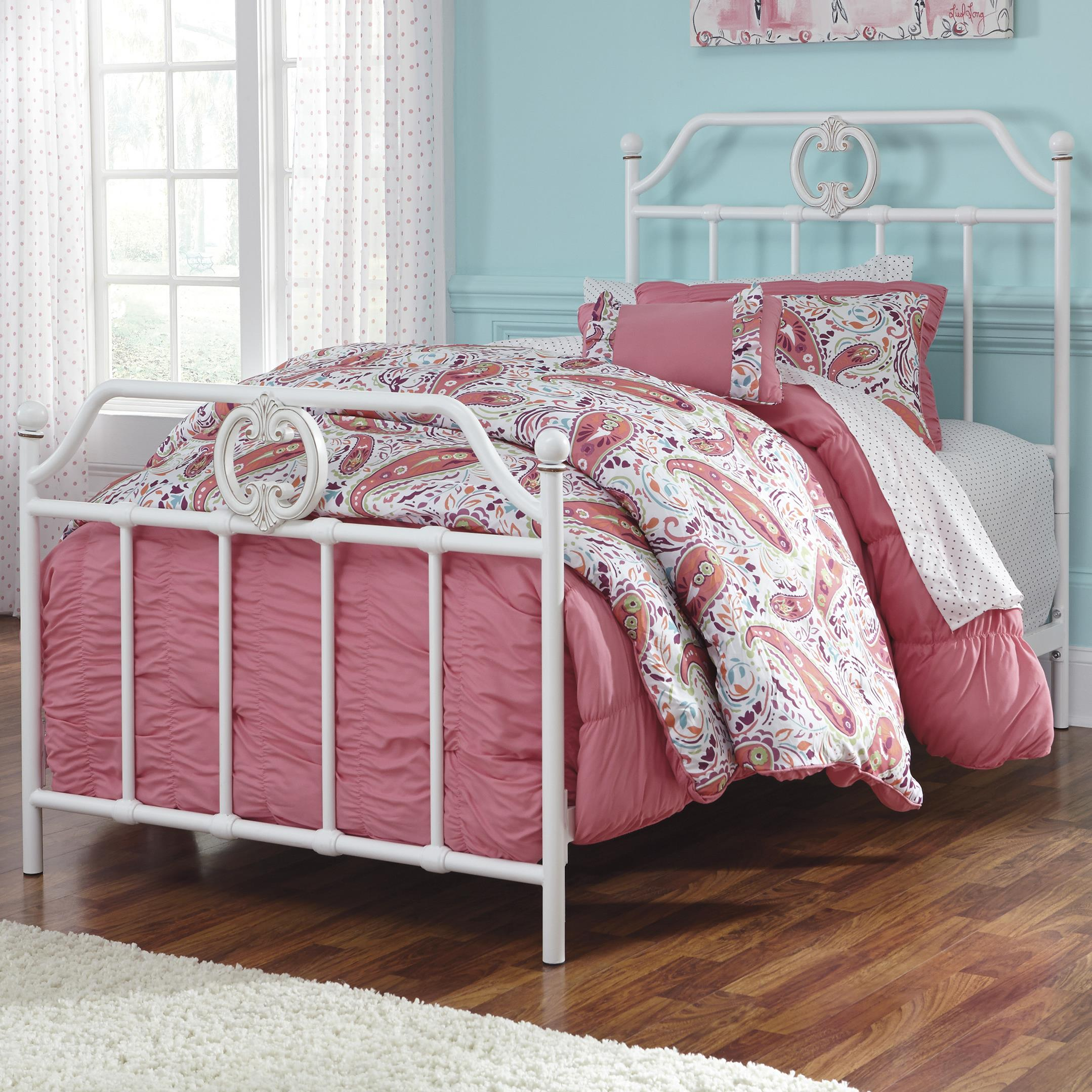 Signature Design by Ashley Korabella Twin Metal Bed - Item Number: B355-71