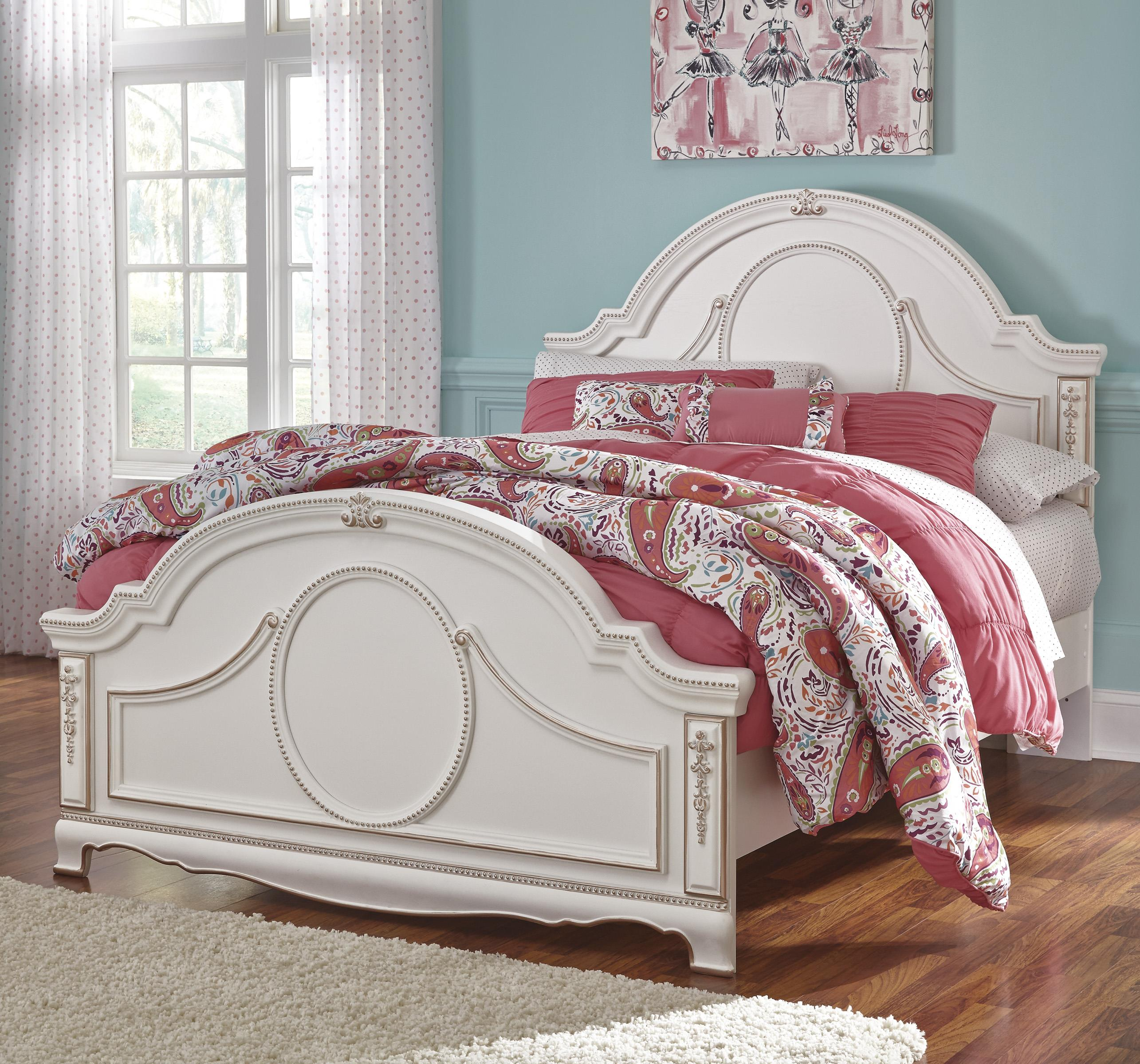 Signature Design by Ashley Korabella Full Panel Bed - Item Number: B355-87+84+86