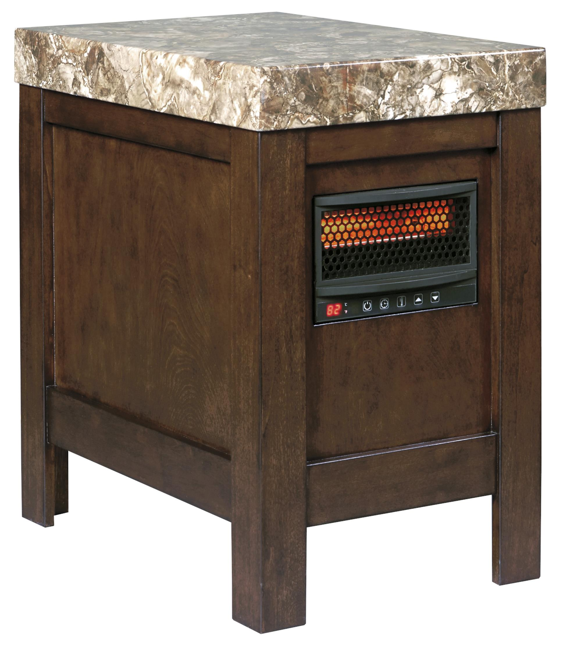 Signature Design by Ashley Kraleene Chair Side End Table w/ Heater - Item Number: T687-17