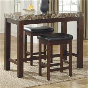 Signature Design by Ashley Kraleene 3-Piece Counter Table Set