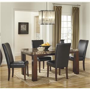 Signature Design by Ashley Furniture Kraleene 5-Piece Rectangular Table Set