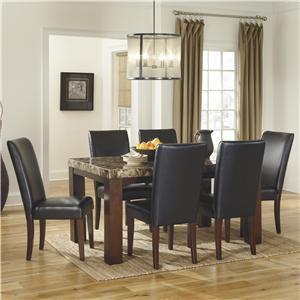Signature Design by Ashley Furniture Kraleene 7-Piece Rectangular Table Set