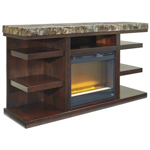 Signature Design by Ashley Kraleene Large TV Stand with Fireplace Insert