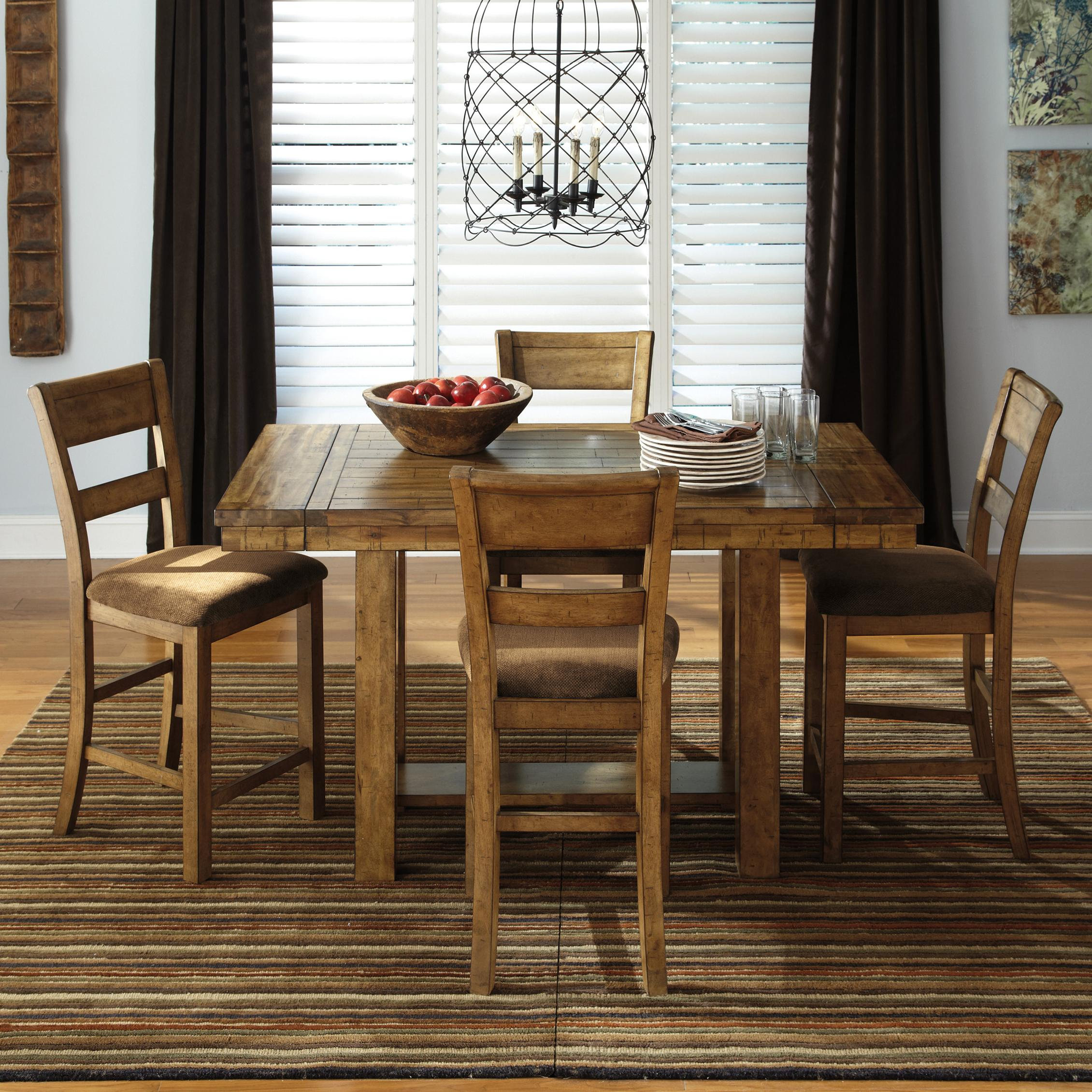 Signature Design by Ashley Krinden 5-Piece Counter Extension Table Set - Item Number: D653-32+4x124