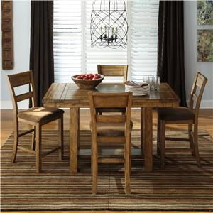 Ashley Signature Design Krinden 5-Piece Counter Extension Table Set
