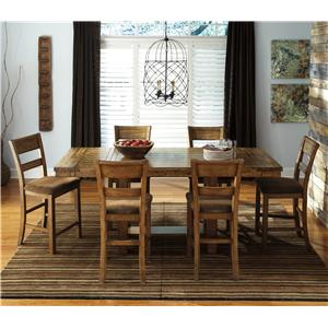 StyleLine MATT 7-Piece Counter Extension Table Set