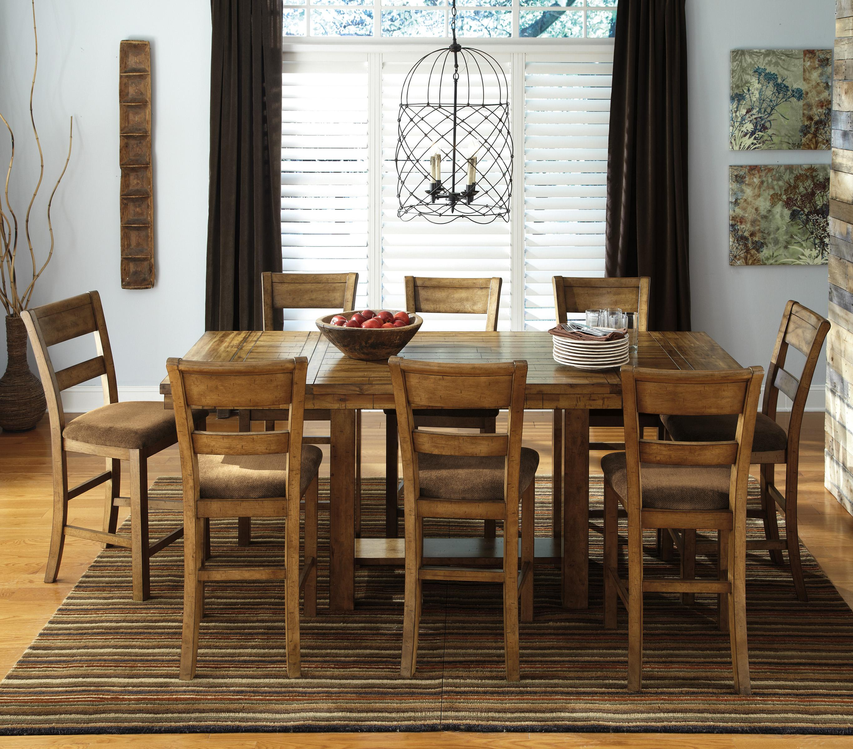 Signature Design By Ashley Krinden 9 Piece Counter Extension Table Set Value City Furniture