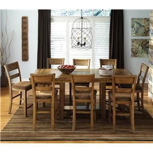 Signature Design by Ashley Krinden 9-Piece Counter Extension Table Set