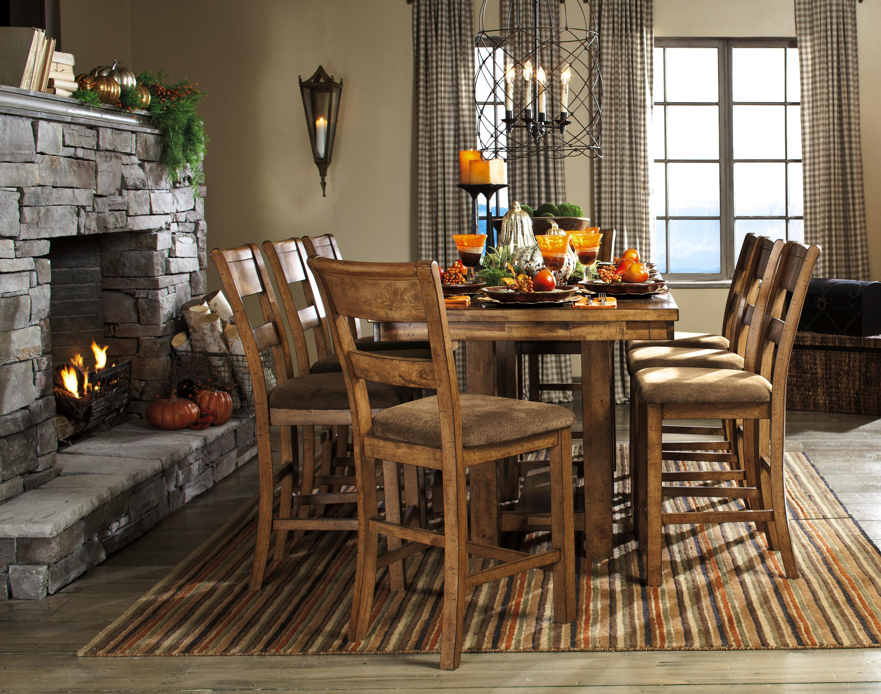 signature design by krinden d653 32 rustic rectangular counter extension table