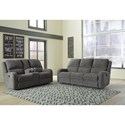Signature Design by Ashley Krismen Reclining Living Room Group - Item Number: 78102 Living Room Group 1