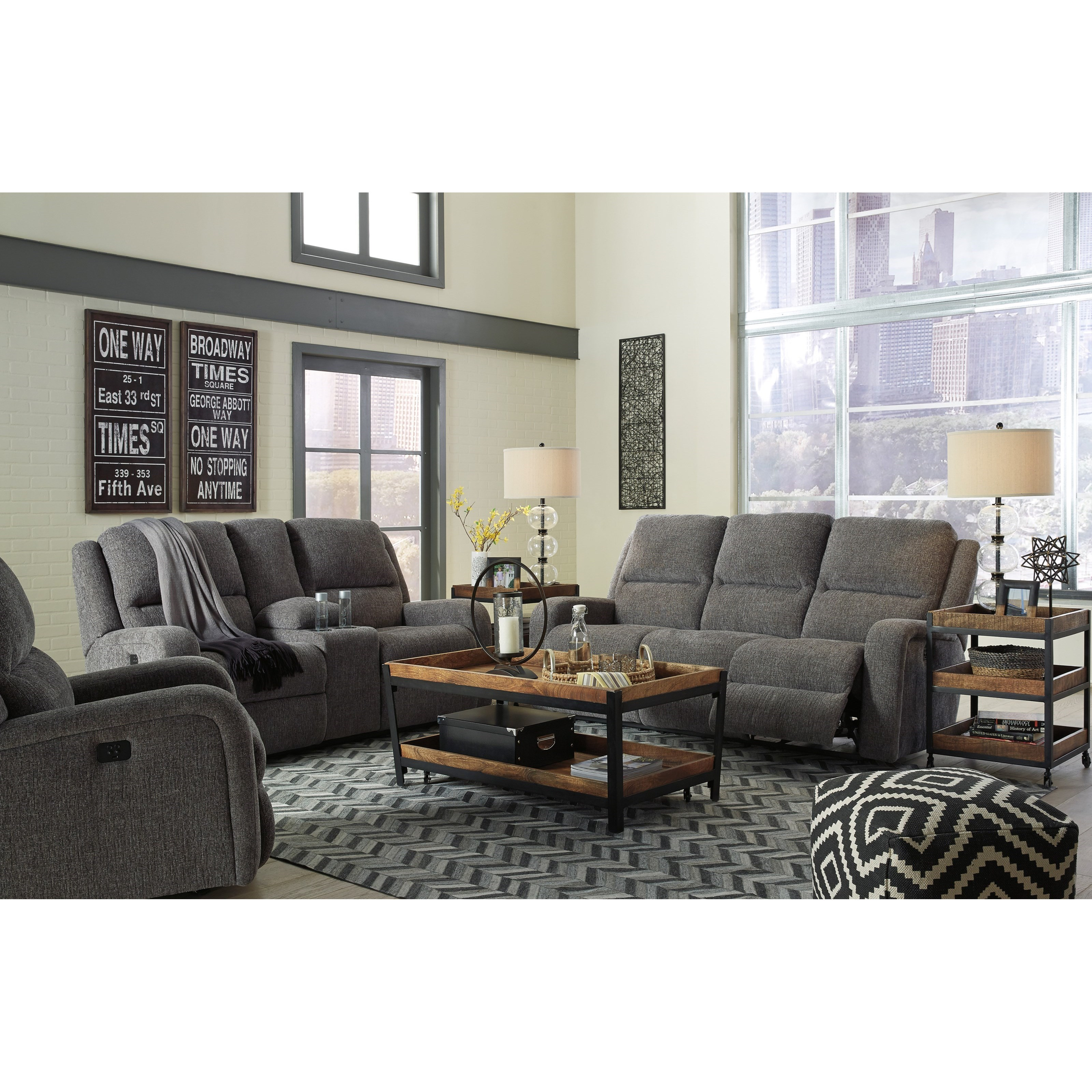 Ashley Furniture Living Room: Signature Design By Ashley Krismen Reclining Living Room