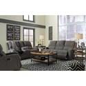Signature Design by Ashley Krismen Contemporary Power Reclining Sofa w/ Adjustable Headrest
