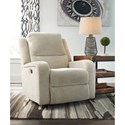 Signature Design by Ashley Krismen Contemporary Power Rocker Recliner w/ Adjustable Headrest