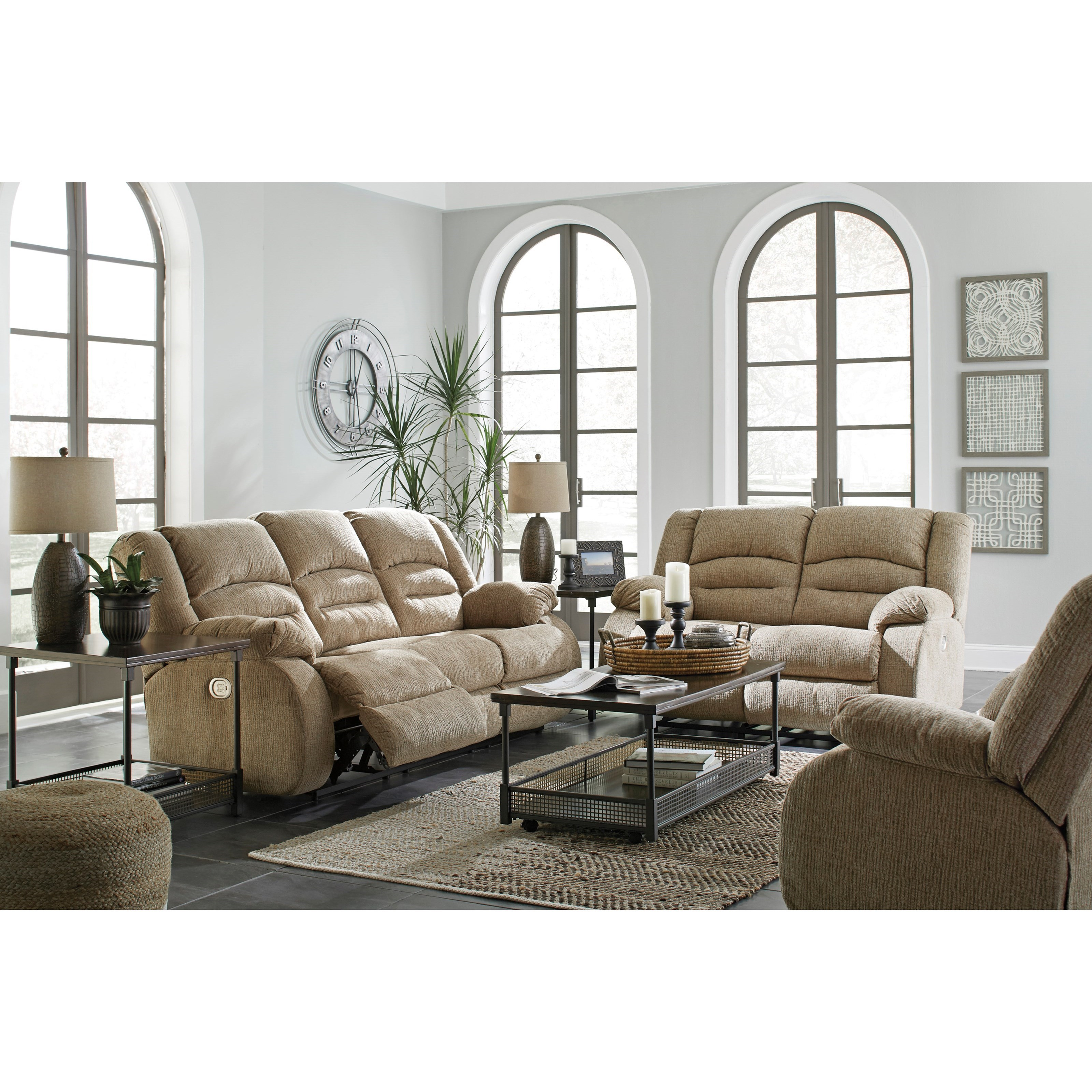 Signature Design by Ashley Labarre Reclining Living Room Group ...