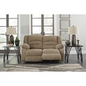 Signature Design by Ashley Labarre Power Reclining Loveseat with Adjustable Headrest