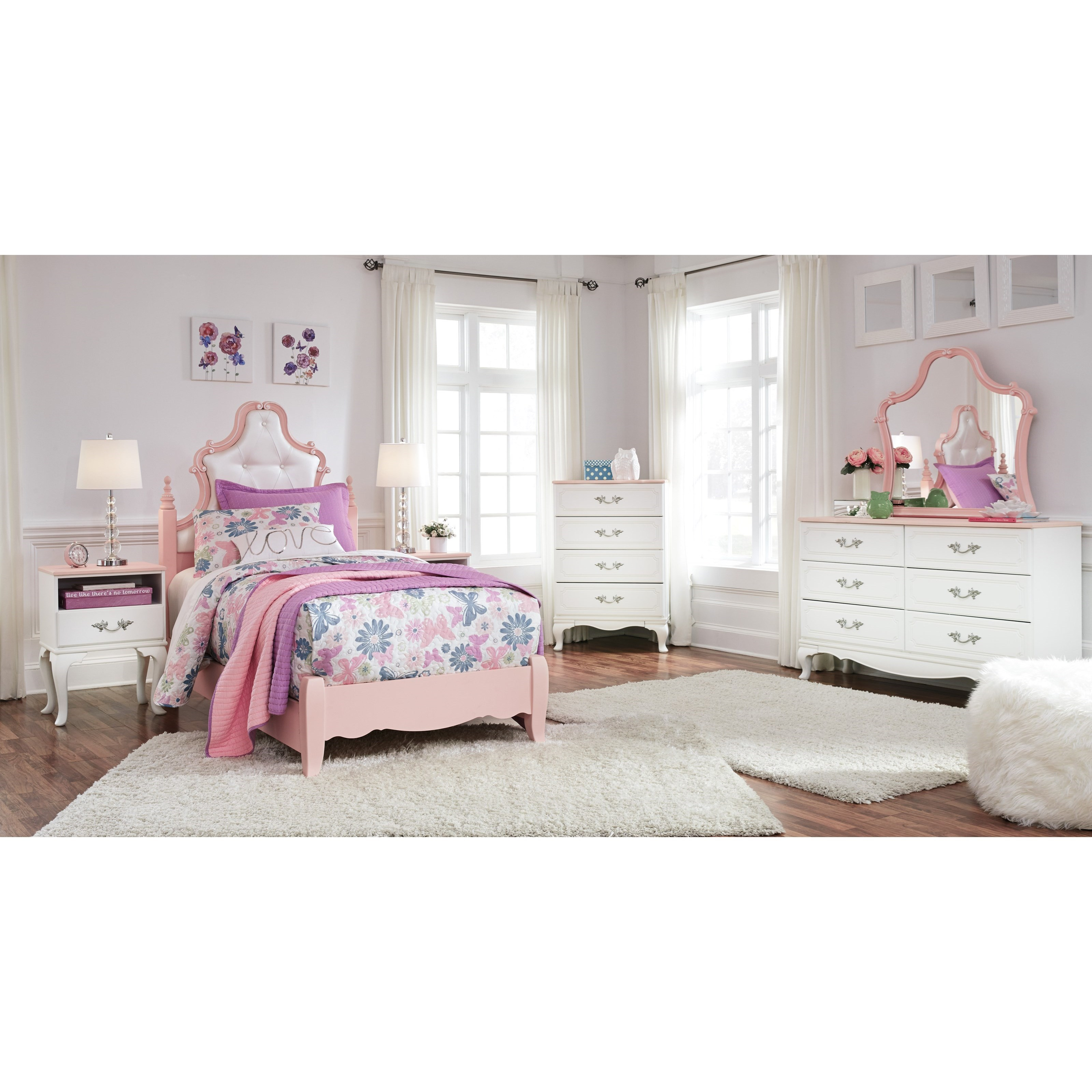 Bedroom Groups: Signature Design By Ashley Laddi Twin Bedroom Group