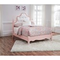 Signature Design by Ashley Laddi Full Bed with Button Tufted Upholstered Headboard