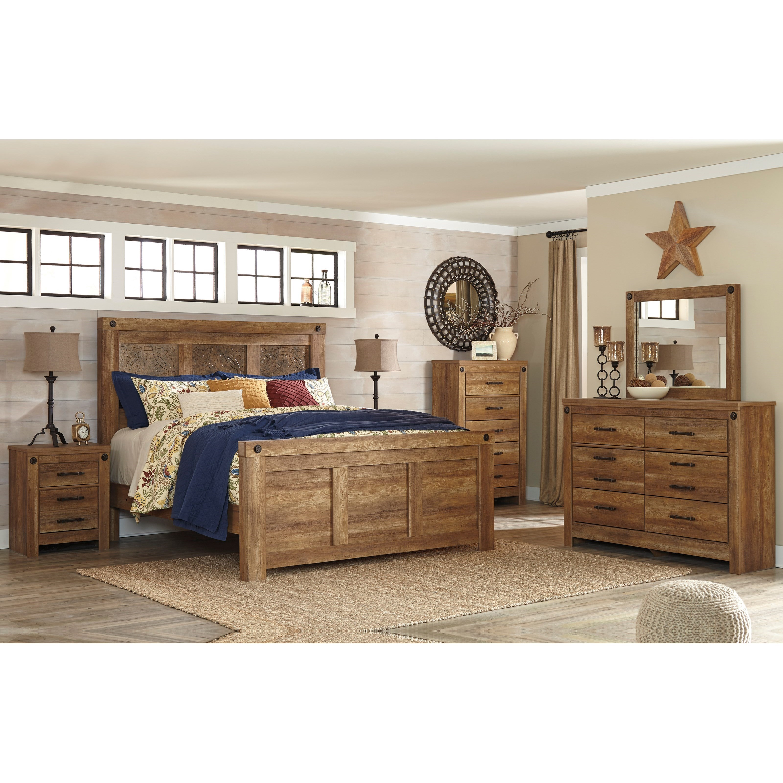 Signature Design by Ashley Ladimier King Bedroom Group - Item Number: B399 K Bedroom Group 1