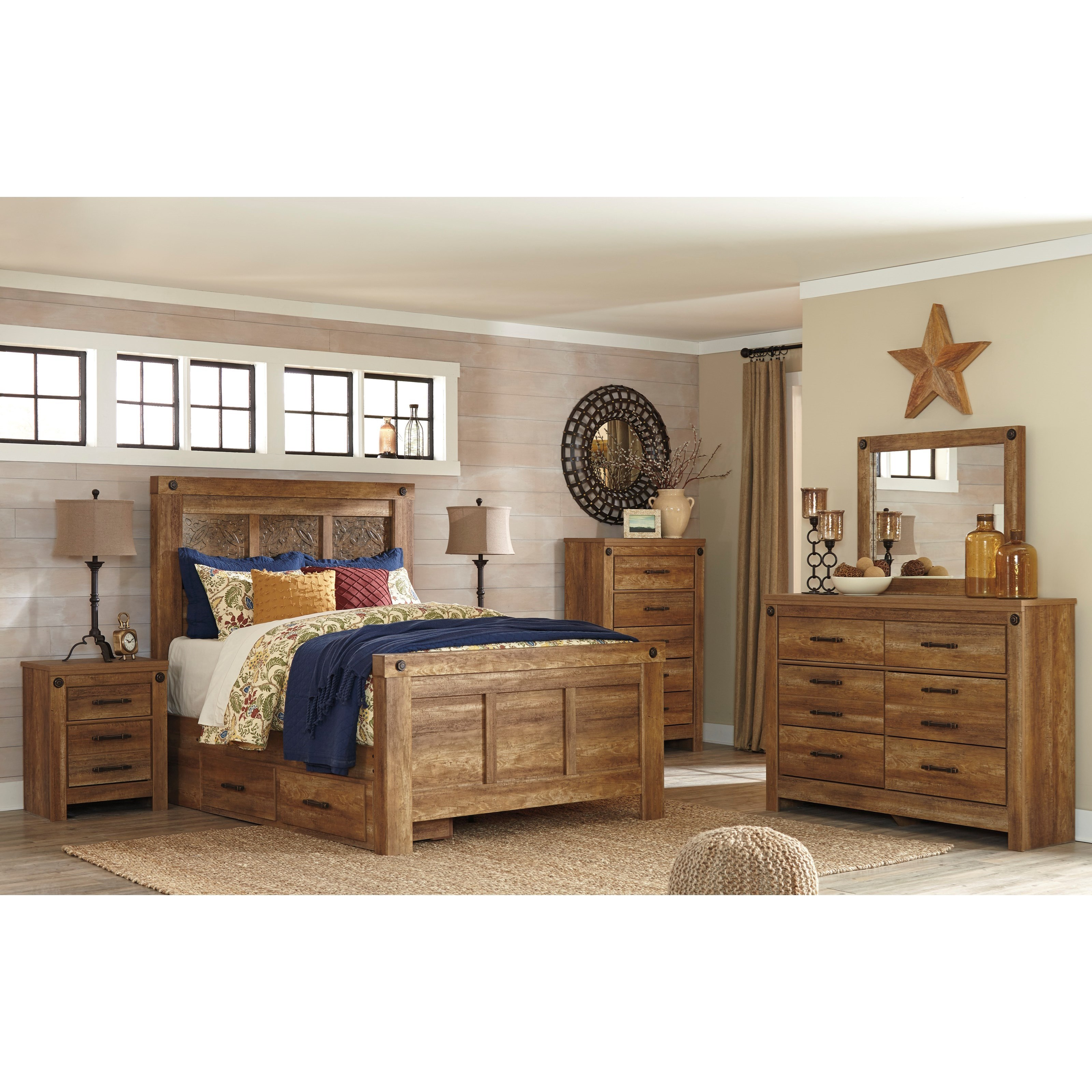 Signature Design by Ashley Ladimier Queen Bedroom Group - Item Number: B399 Q Bedroom Group 2