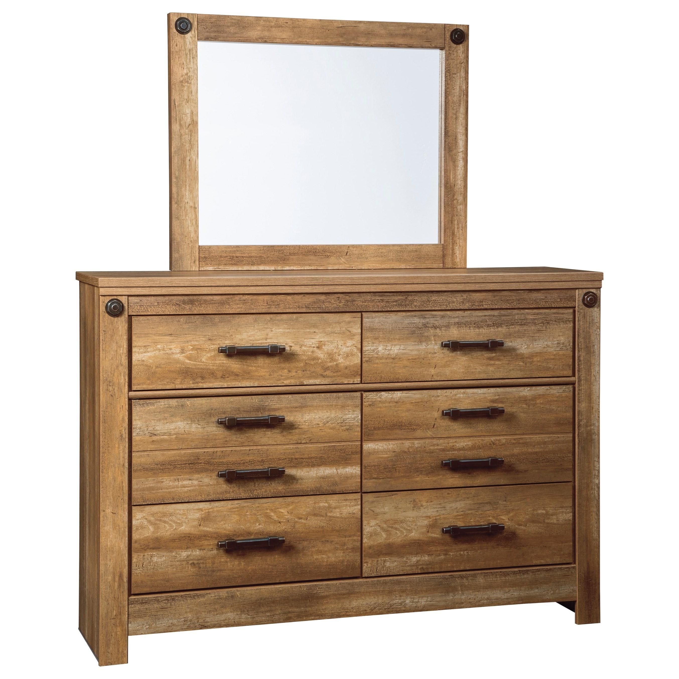 Signature Design by Ashley Ladimier Dresser & Bedroom Mirror - Item Number: B399-31+36