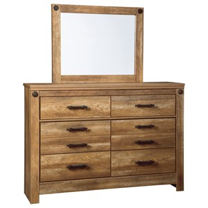 Signature Design by Ashley Ladimier Dresser & Bedroom Mirror