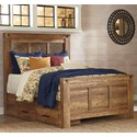 Signature Design by Ashley Ladimier Queen Mansion Bed with Under Bed Storage - Item Number: B399-57+54+98+50
