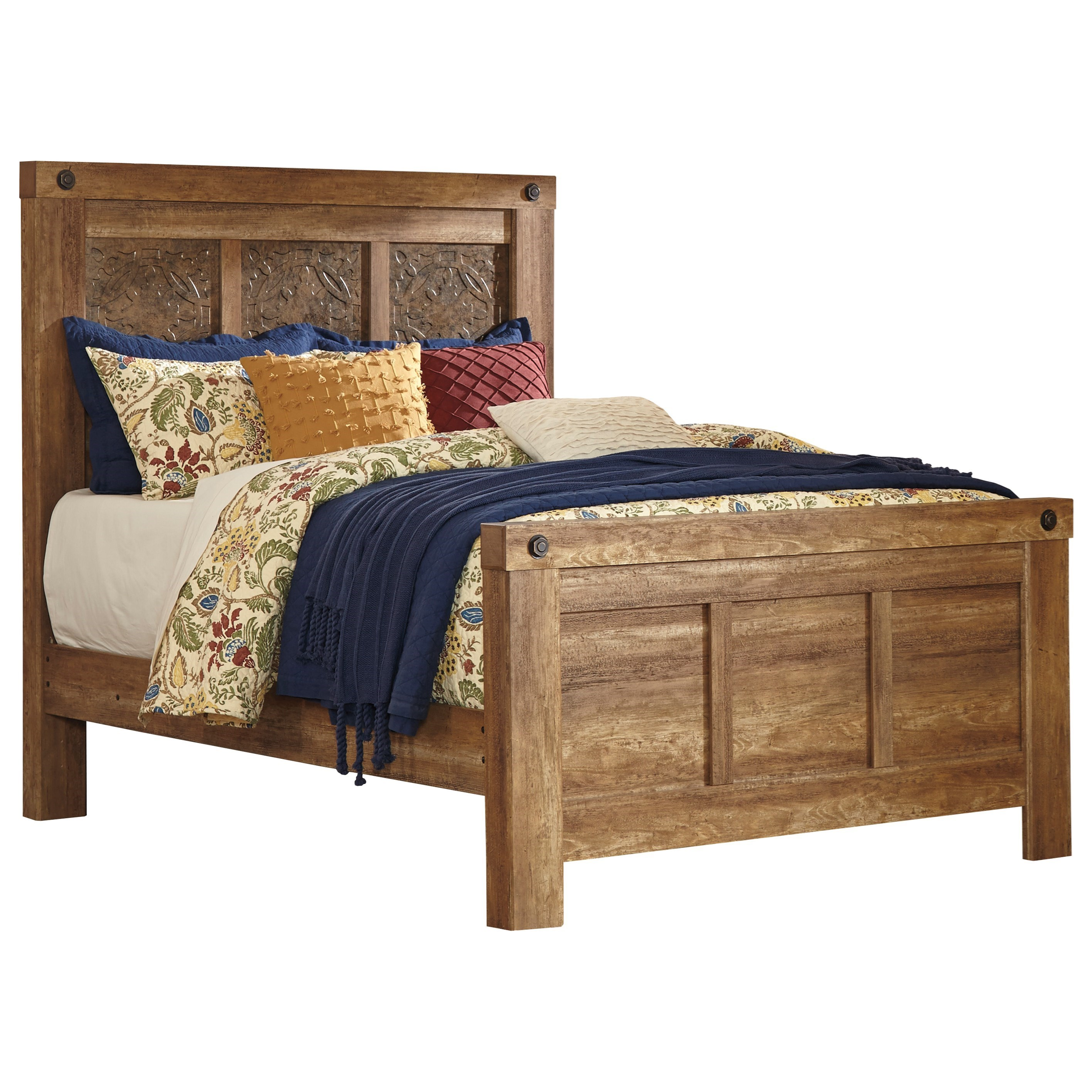 Signature Design by Ashley Ladimier Queen Mansion Bed - Item Number: B399-57+54+98