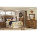 Signature Design by Ashley Ladimier Queen Mansion Headboard with Decorative Panels